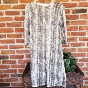 Liz Claiborne Herringbone Sweater Dress Sheath L